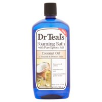 (2 pack) Dr Teal's Foaming Bubble Bath with Pure Epsom Salt and Coconut Oil, 34 oz