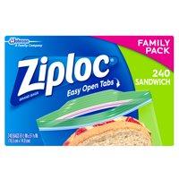 Ziploc Sandwich Bag, 240 count