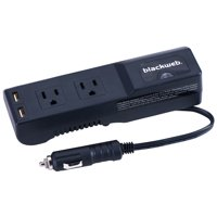Blackweb 175 Watts Power Strip Inverter for Car Charging, 3 ft Power Cord