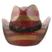 fe506296ef468 Milani Vintage Stars   Stripes American Flag Cowboy Hat