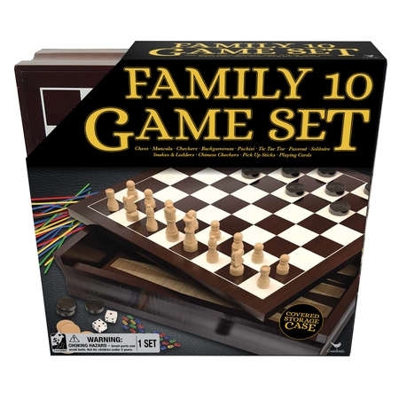 Family 10 Game Set with Chess, Checkers, Mancala, and (Best Chess Computer Game)