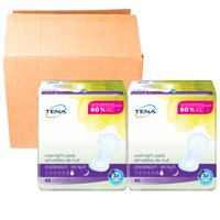 Tena Incontinence Pads for Women, Overnight, 90 Count