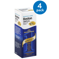 (4 Pack) Bausch & Lomb Boston Multi-Action Solution With Daily Protein Remover Simplus 3.5 fl oz
