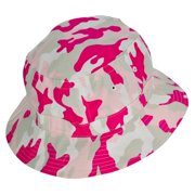 DALIX Pink Camouflage Washed Cotton Bucket Hat -Extra Large 7 3/8 Size