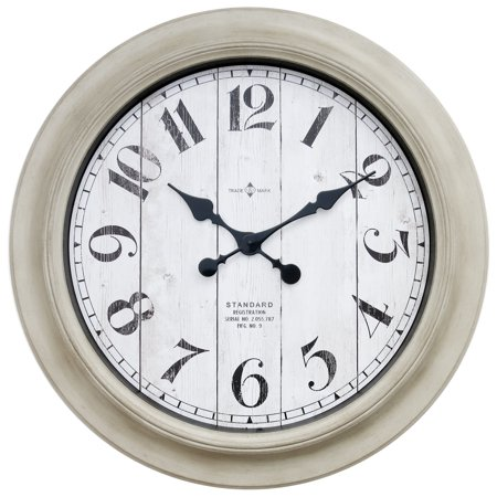 - Better Home & Gardens Oversized Wall Clock, 28 Inch Whitewashed Modern Farmhouse