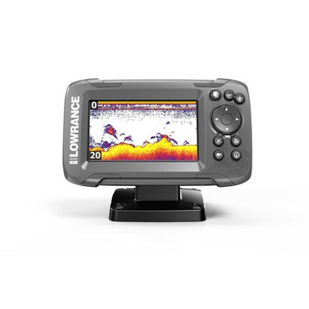 Lowrance HOOK2-4X Fishfinder w/ Transom Mount Transducer & WVGA Color TFT LCD 000-14012-001