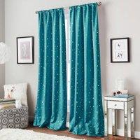Starry Night Room Darkening Kids Bedroom Curtain