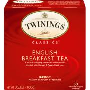 Twinings of London® English Breakfast Black Tea, Tea Bags, 50 Ct
