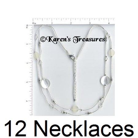 12 Necklaces Wholesale Lot Silver Plated Fashion Jewelry - Costume Jewelry