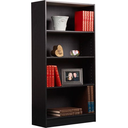 Orion 4-Shelf Bookcase, Black