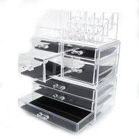 Ktaxon 7 Drawer Cosmetic Table Organizer Makeup Holder Case Box Jewelry Storage Display
