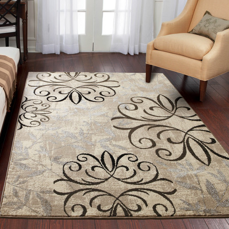Better Homes & Gardens Iron Fleur Area Rug or Runner - Oushak Black Area Rugs