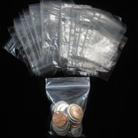 "200 W 2"" x 3"" H Reclosable Clear Plastic Poly Bags Small Baggies 2 Mil"