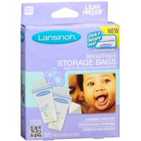2 Pack - Lansinoh Breastmilk Storage Bags 50 Each