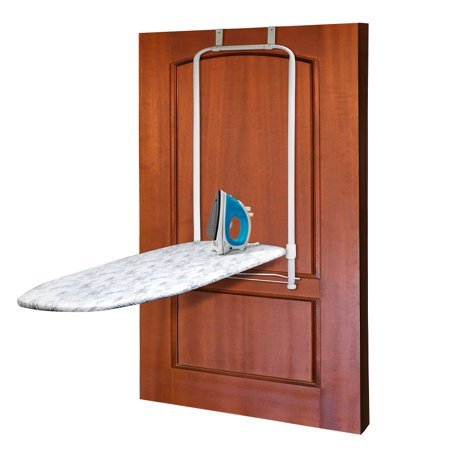 Homz Over The Door Ironing Board, Front Facing, Gray Geo Rain Print, Set of (Best Ironing Board Extra Large)