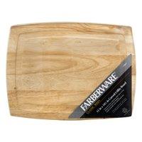 """Farberware Classic Series 10"""" x 12"""" Curved Hardwood Cutting Board"""