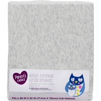 Parent's Choice Knit Fitted Crib Sheet, Grey, 1 Pack