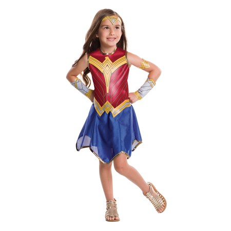 Justice League Girls Wonder Woman Costume](Saloon Costumes For Womens)