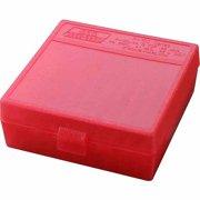 "MTM P-100 FLIP-TOP PISTOL AMMO BOX 1.85"" OAL RED POLY"