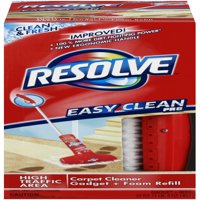 Resolve Easy Clean Pro Carpet Cleaner Gadget & Foam Spray Refill, Clean & Fresh 22oz Can