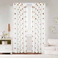 Mainstays Sheer Metallic Dot Window Panel, Set of 2, Multiple Colors and Sizes