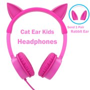 1c5cfa5bf9f Kids Headphones, Vogek 2 in 1 Cat / Rabbit Wired On-Ear Headphones Headsets