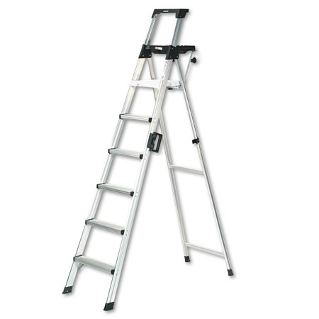 Pull Down Ladder - Cosco 8 ft. Signature Series Aluminum Folding Step Ladder with Leg Lock & Handle, 300 lb. Type IA Duty Rating