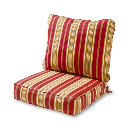 Cushion Only Set - Greendale Home Fashions Roma Stripe Outdoor Deep Seat Cushion Set