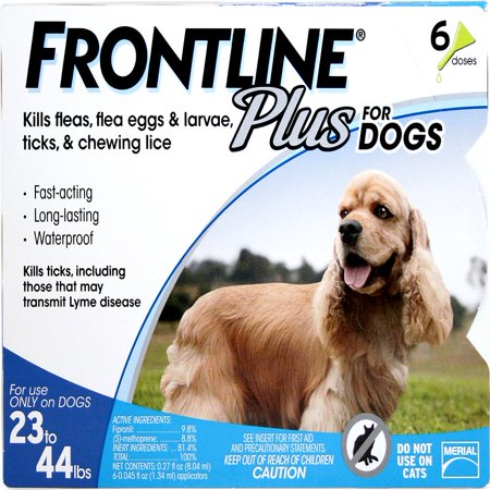 FRONTLINE Plus for Medium Dogs (23-44 lbs) Flea and Tick Treatment, 6 (Drontal Dog)