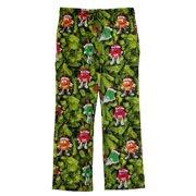 M&M's Christmas Ornaments Mens Green Flannel Sleep Lounge Pants Pajama Bottoms