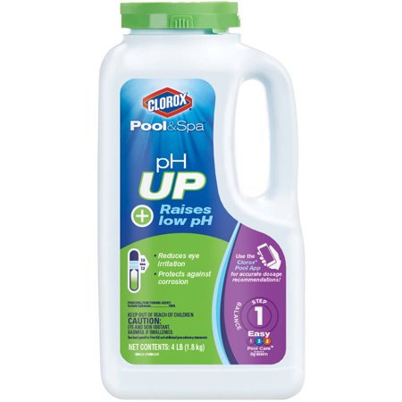 Clorox Pool&Spa pH Up Pool pH Increaser, 4 - Pool Spa Supply