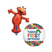 Mozlly Sesame Street Elmo Mini Shaped Balloon And Betallic The Very Hungry Catepillar Happy First Birthday