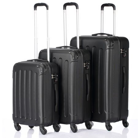 3 Pieces Travel Spinner Luggage Set Bag ABS Trolley Carry On Suitcase w/TSA