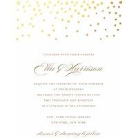 Product Image Gold Dots Standard Wedding Invitation