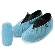 6f92f4d4eb5e Personal Touch Disposabe Non-Skid Shoe Covers Blue 100 Pieces   50 Pairs  One Size