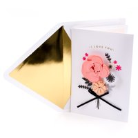 Hallmark Signature Valentine's Day Card for Wife (Paper Flowers with Ribbon)
