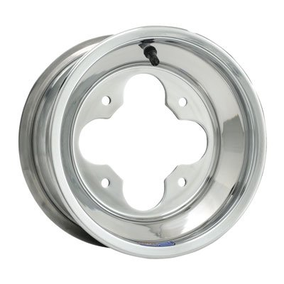 4/110 Douglas A5 Wheel 10X8 3.0 + 5.0 Polished Aluminum for Kawasaki KFX 400 -