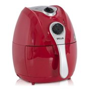 Della 1500W Electric Air Fryer Temperature Control, Detachable Basket Handle Red,