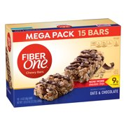Fiber One Chewy Bar, Oats and Chocolate, 15 Fiber Bars Mega Pack, 5.2 oz
