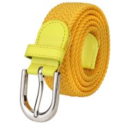8c2c2a9e4226 Falari Men Women Canvas Elastic Fabric Woven Stretch Braided Belt - 20  Variety Colors