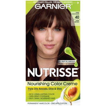 Garnier Nutrisse Nourishing Hair Color Creme Browns 40 Dark Brown