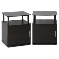 Furinno JAYA Utility Design End Table, Set of 2