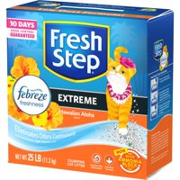 Fresh Step Scented Litter with the Power of Febreze, Clumping Cat Litter - Hawaiian Aloha, 25 lbs