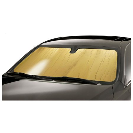 Gold Roll-up Sunshade Fits Toyota Corolla 1984-1987 coupe, sedan, wagon