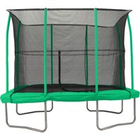 JumpKing 7 x 10-Foot Rectangular Trampoline, with Enclosure, Green