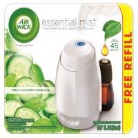 Air Wick Essential Mist Fragrance Oil Diffuser Kit (Gadget + 1 Refill), Fresh Cucumber, Air Freshener