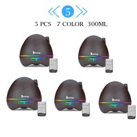ZOKOP 5pcs Aroma Humidifier 300ml 7 Color LED Ultrasonic Humidifier/Aromatherapy Essential Oil Diffuser Cool Mist Humidifier for Home, Yoga, Office, Spa, Bedroom, Baby Room