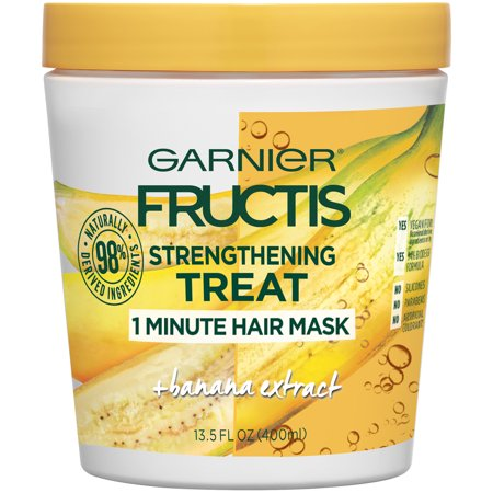 Garnier Fructis Strengthening Treat 1 Minute Hair Mask with Banana Extract 13.5 FL OZ (By Hair Mask)