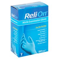 ReliOn Nitrile Examination Gloves, 100 count
