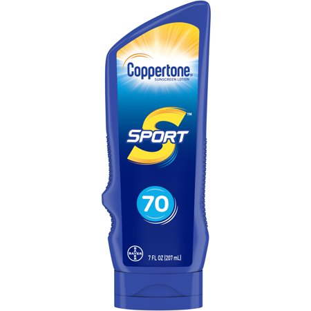 Coppertone Sport Sunscreen Lotion SPF 70, 7 Fluid Ounces